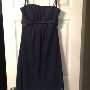 Alfred Angelo Navy Bridesmaid Dress